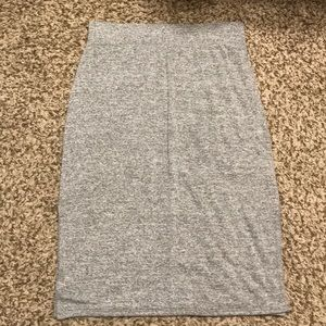 Grey Cotton Pencil Skirt
